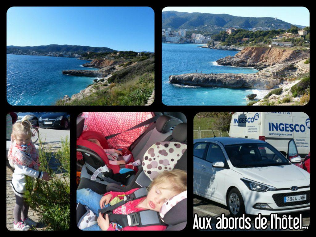 Visite des abords de l'hôtel avec la voiture de location à Palma de majorque