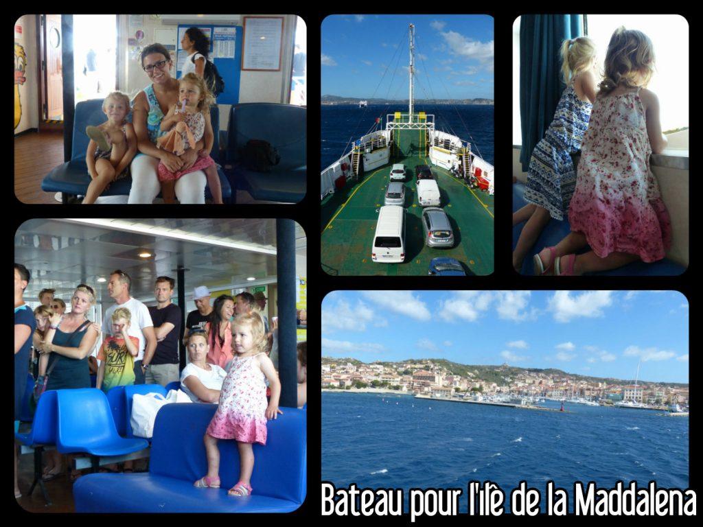 Bateau pour aller à l'île de la Maddalena en Sardaigne
