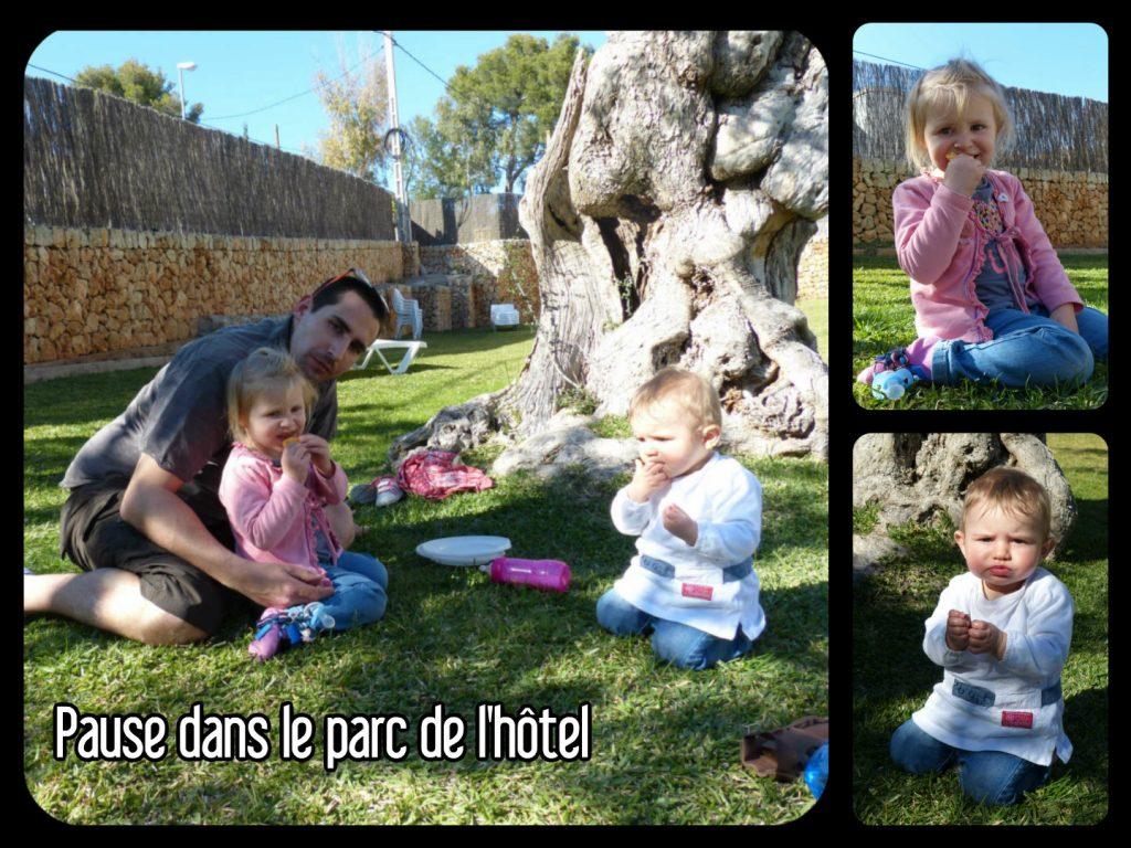 Dans le parc de l'hôtel à Palma de majorque