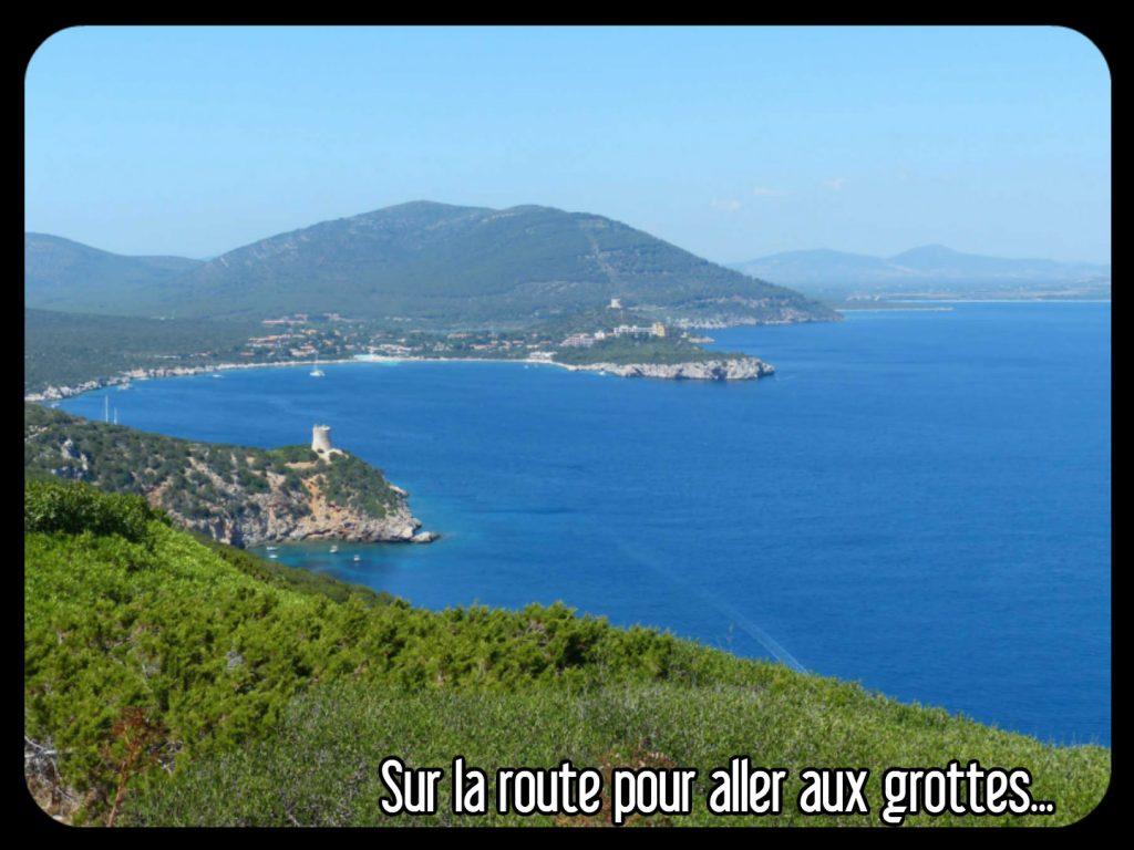 Route pour aller d'Alghero aux grottes de Neptunes