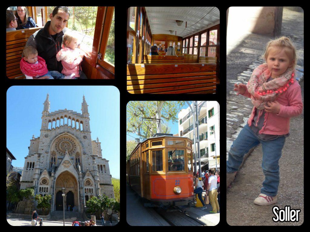 Petit train en bois de Soller pour se rendre au port de Soller à Palma de majorque